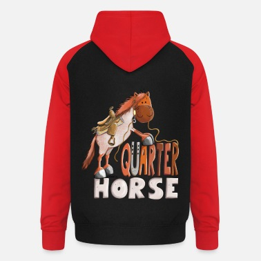 Quarter Happy Quarter Horse Strawberry - Sweat à capuche baseball unisexe