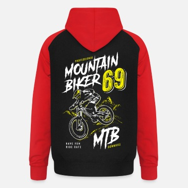Mountainbike - mountainbikers - mountainbiken - MTB - Unisex baseball hoodie