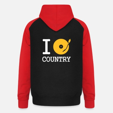 Style I dj / play / listen to country - Baseball hoodie unisex
