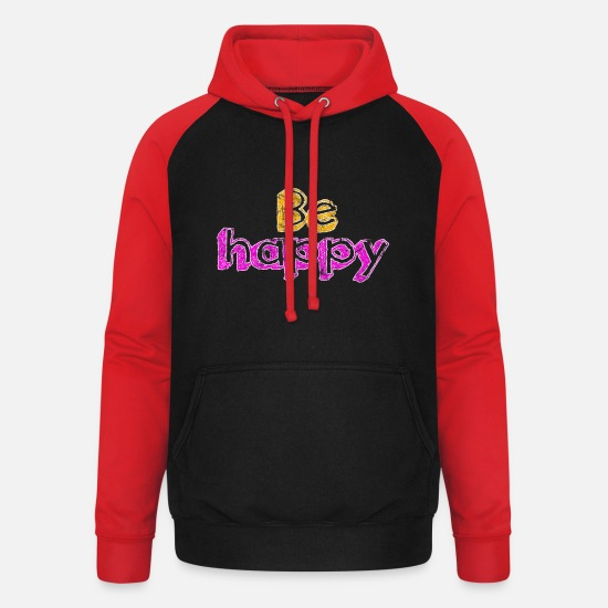 Sayings Hoodies & Sweatshirts - saying - Unisex Baseball Hoodie black/red