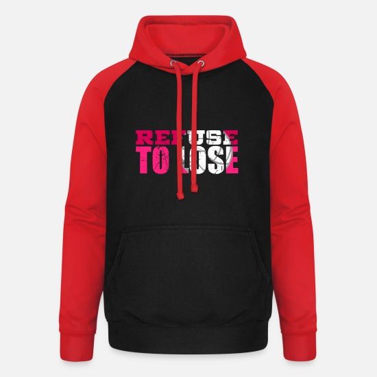 Gift Idea Hoodies & Sweatshirts - Sports - Unisex Baseball Hoodie black/red