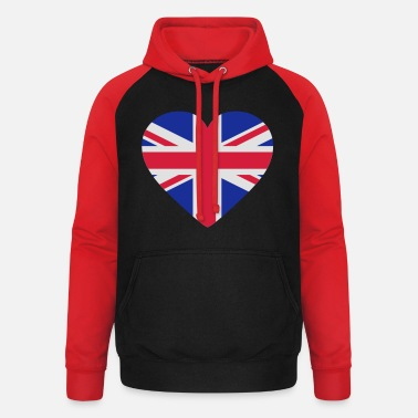 Uk Underwear Heart Britain - Unisex Baseball Hoodie