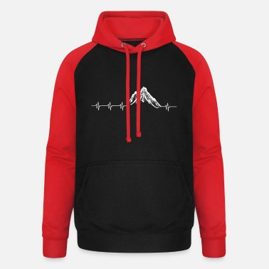 Snow Snow covered mountains - Unisex Baseball Hoodie