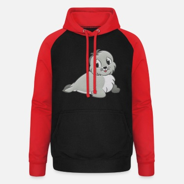 Seal-animal Seal stuffed animal - Unisex Baseball Hoodie