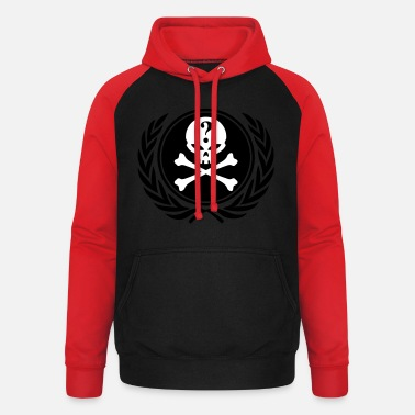 Sr23 anonymous skull - Sweat à capuche baseball unisexe