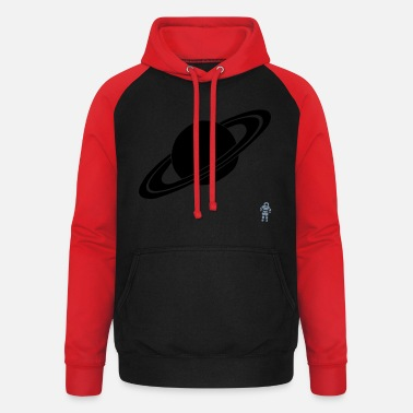 Planet Saturn - Planet - Astronaut - Space - Unisex Baseball Hoodie