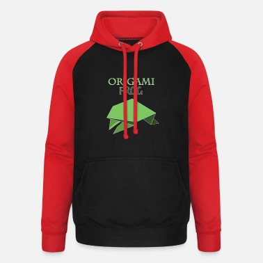 Origami Origami Frosch - Unisex Baseball Hoodie