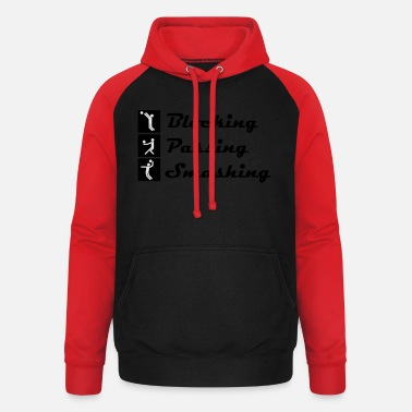 Volleyball - Blocking, Passing and Smashing - Unisex Baseball Hoodie