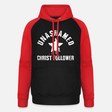 Christ Unashamed Christ Follower - Sweat à capuche baseball unisexe