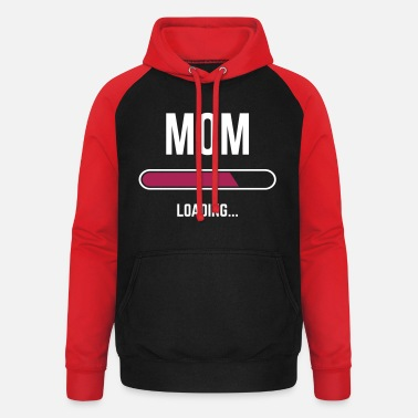 Mom Loading - Sweat à capuche baseball unisexe