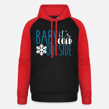 Cold cold - Unisex Baseball Hoodie