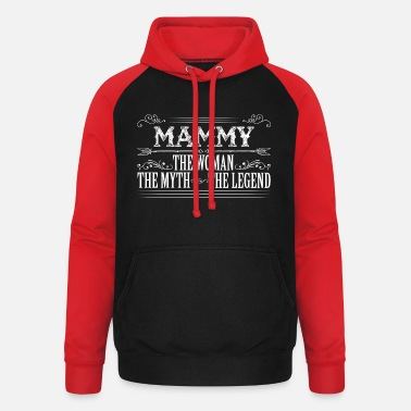 Mammy The Legend Mammy The Legend... - Unisex Baseball Hoodie
