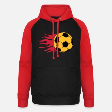 Tor brennender Ball - burning ball - Unisex Baseball Hoodie