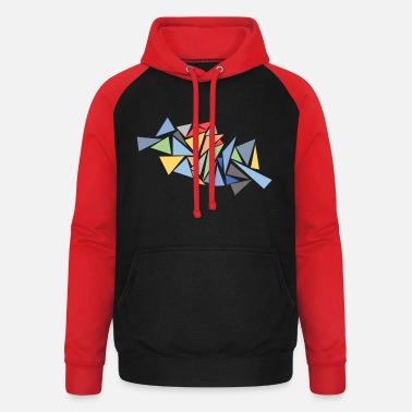 Tessellation Modern Triangles - Unisex Baseball Hoodie