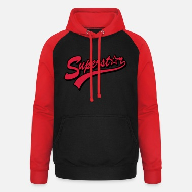 Superstar superstar - Unisex baseball hoodie