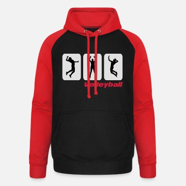 Pictogram Volleyball pictograms - Unisex Baseball Hoodie