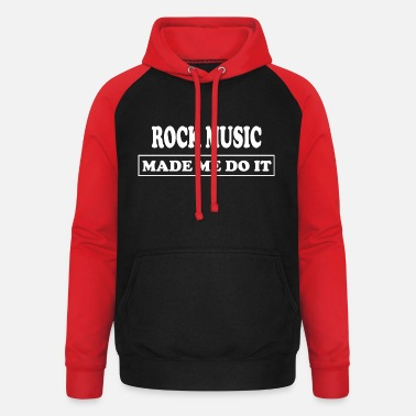 Hip Rockmusik Rock and Roll - Baseball hoodie unisex
