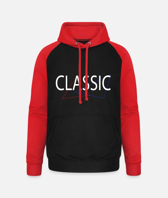 Shut Off Hoodies & Sweatshirts - CLASSIC - Unisex Baseball Hoodie black/red