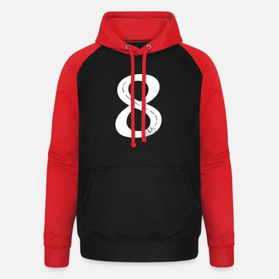Gift Idea Hoodies & Sweatshirts - bicycle - Unisex Baseball Hoodie black/red