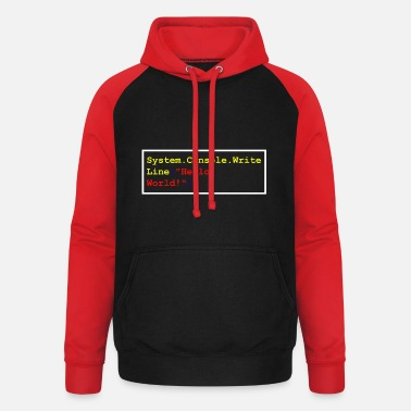 C Sharp Hello World C # Sharp Developer Program Gift - Unisex Baseball Hoodie