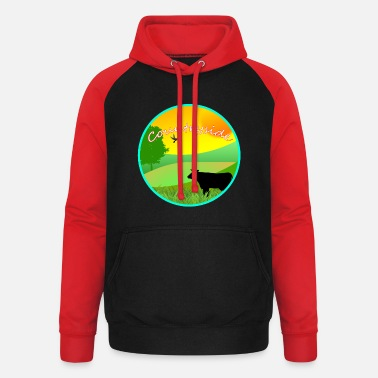 Countryside Vector Countryside - Unisex Baseball Hoodie