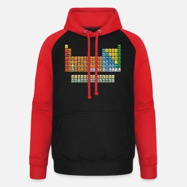 Periodic Table NEW Periodic Table of Elements - Unisex Baseball Hoodie