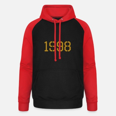 Production Year 1998 year of production gold - Unisex Baseball Hoodie