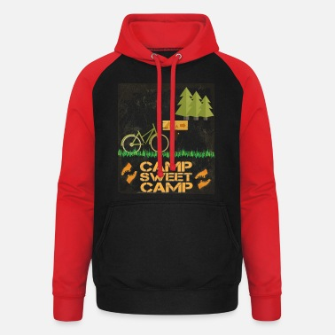 Camping Camp - Camp sweet camp - Unisex Baseball Hoodie