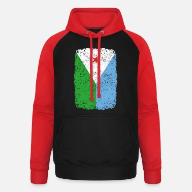 Home Country roots home country roots home Djibouti - Unisex Baseball Hoodie
