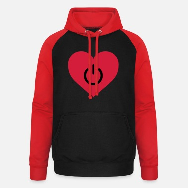 Humour power of love v2 - Unisex Baseball Hoodie
