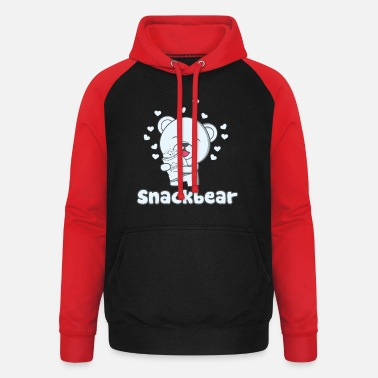 Snack Snack bear / snack bear with heart - Unisex Baseball Hoodie