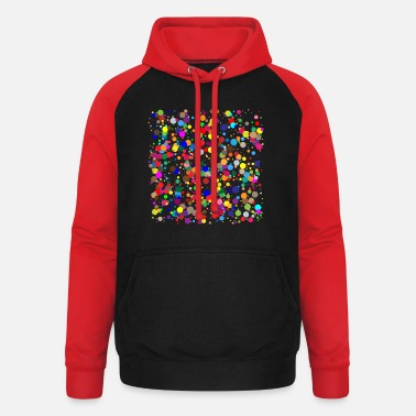Dots colorful dots / confetti - Unisex Baseball Hoodie