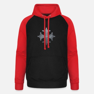 Iron Metal Occitan cross metal iron - Unisex Baseball Hoodie