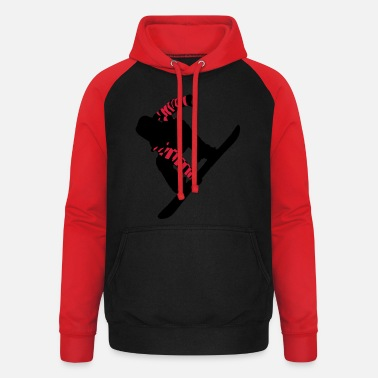 Big Air Snowboarder Big Air - Unisex Baseball Hoodie