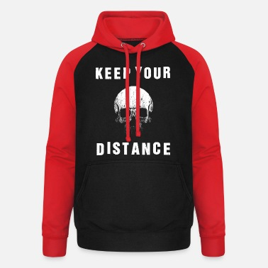 SOCIAL DISTANCING SKULL KEEP YOUR DISTANCE - Unisex Baseball Hoodie