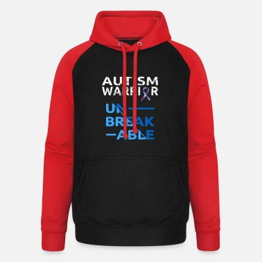 Autism Awareness Autistic Autism Awareness - Unisex Baseball Hoodie