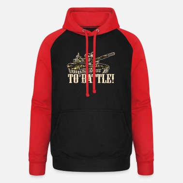 Tank Into the fight - Unisex Baseball Hoodie
