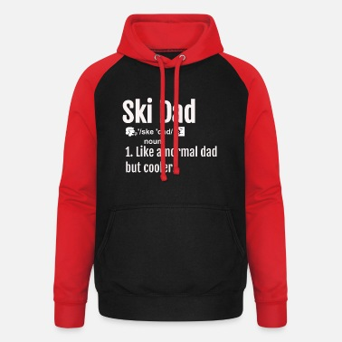 Ski Dad Definition T shirt Funny Sports Tee Skiing - Unisex Baseball Hoodie