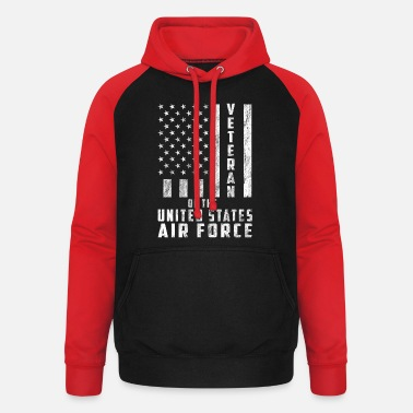 United States Veteraan van de United States Air Force Gift - Unisex baseball hoodie