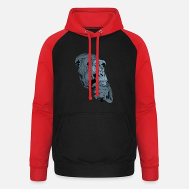 Charade Gorilla monkey t-shirt for gorilla fans and kids - Unisex Baseball Hoodie