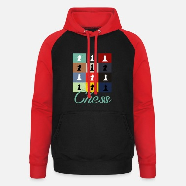 Chess Player Retro Chess Player - Unisex Baseball Hoodie