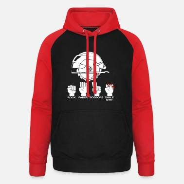 Scissors Table saw carpenter and woodworker gift - Unisex Baseball Hoodie
