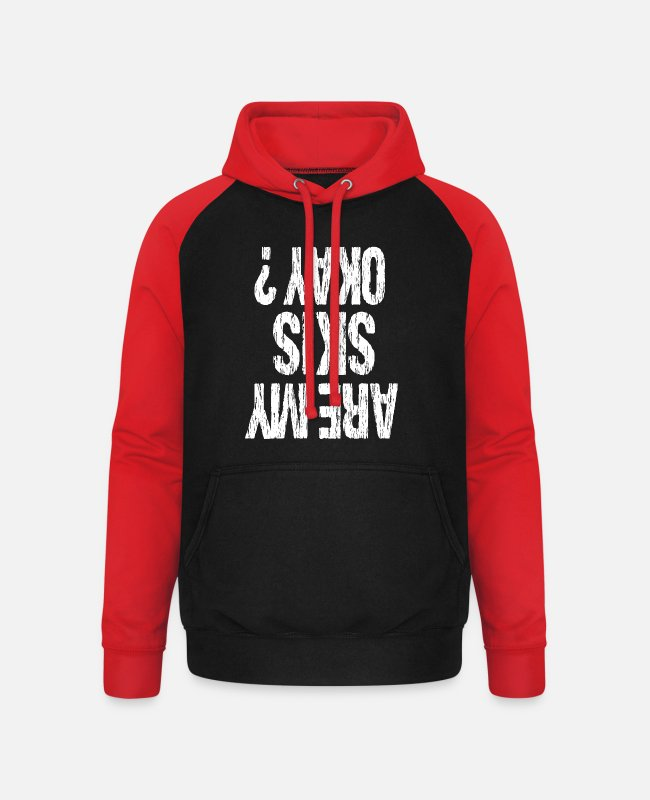 Ski Hoodies & Sweatshirts - ski - Unisex Baseball Hoodie black/red