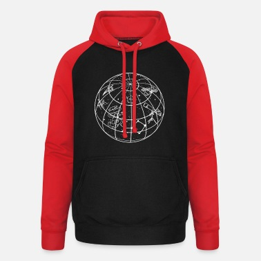 Astronomy Astronomer planet solar system - Unisex Baseball Hoodie
