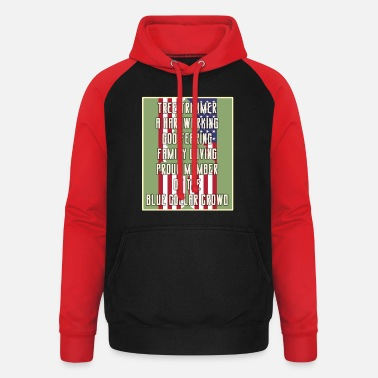 Blue Collar Baumschneider Stolzes Mitglied der Blue Collar Crowd - Unisex Baseball Hoodie