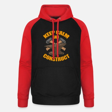 Hipster Metalworker - Keep Calm And Construct - Therapy - Bluza bejsbolowa unisex
