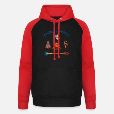 Take Camping and Campfire - Unisex Baseball Hoodie