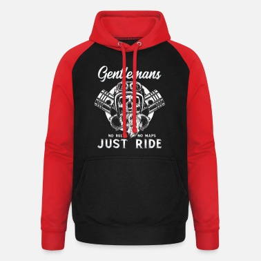 Biker Bike Bikerin Motorrad Chopper Motorcycle - Unisex Baseball Hoodie