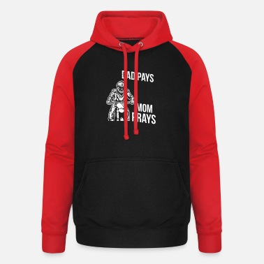 Enduro Mom prays Dad pays Motocross Enduro - Unisex Baseball Hoodie