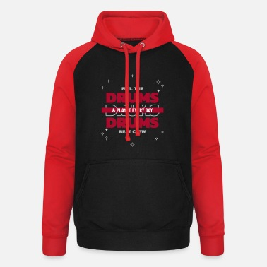 Stage Feel the drum beat crew - Unisex Baseball Hoodie